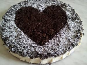 veganer Oreokuchen zum Valentinstag