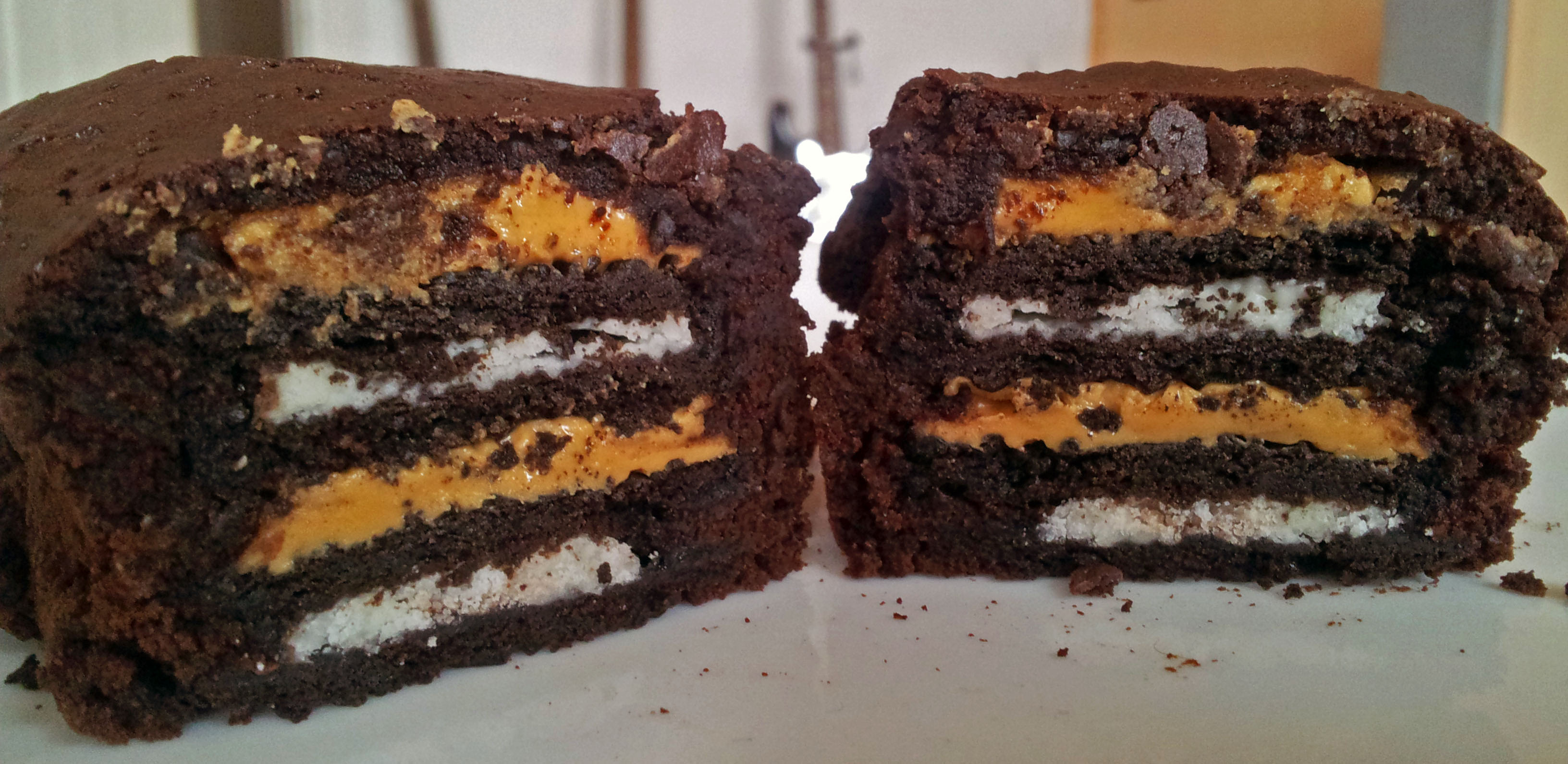 Oreo Erdnussbutter Brownie Muffin Claudi S Vegan World